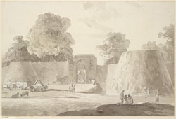 The same scene: gateway (probably the S.E.) at Anupshahr fort (U.P.). 15 March 1789